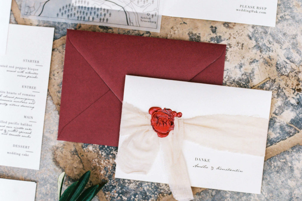 Hochzeitskarten Jungrad Rot