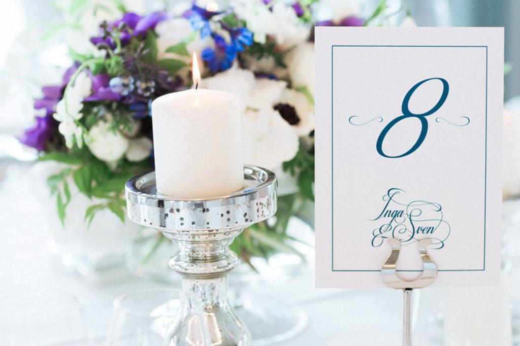 Jungrad Hochzeitskarten Blau Weiss