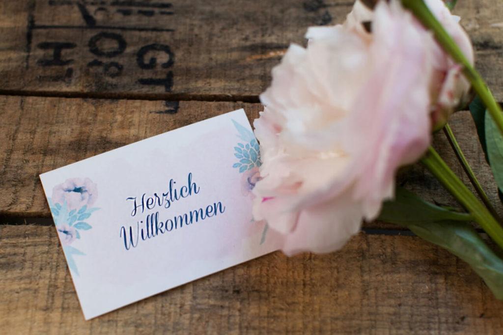 Jungrad Hochzeit Einladungen Watercolor