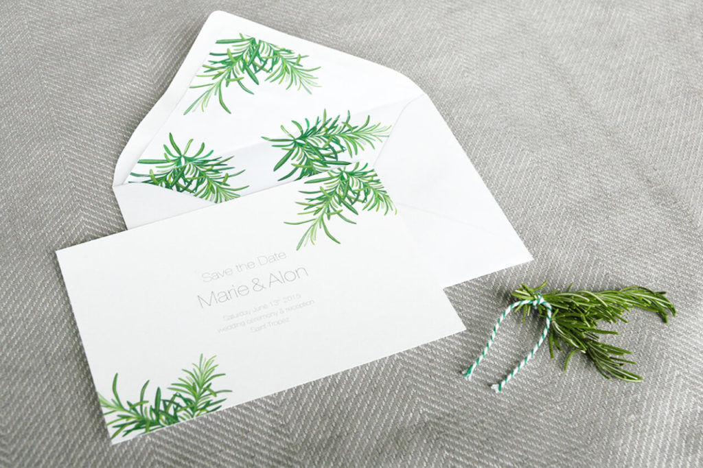 Wedding Invitation Jungrad Frankreich