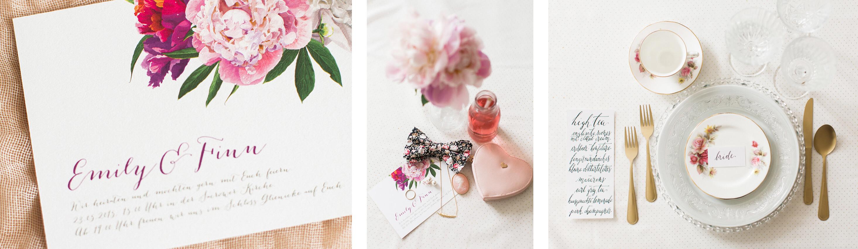 Hochzeitskarten mit Blumen
